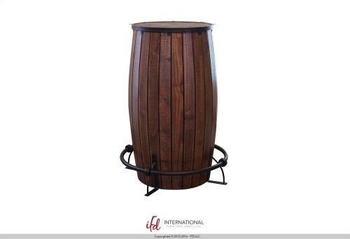 Bistro Table Base Barrel Shaped with Shelves