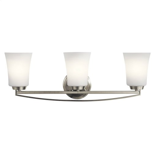 Tao 3 Light Vanity Light Brushed Nickel