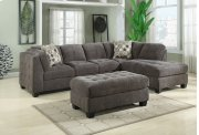 2-pc Sectional-gray-lsf Sofa-rsf Chaise W/2 Accent Pillows Product Image
