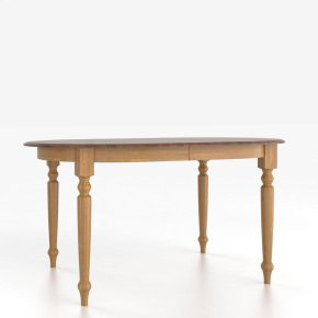 Oval table with legs