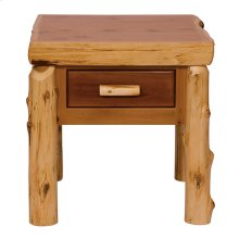 One Drawer End Table Natural Cedar
