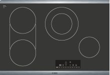 """***DISPLAY MODEL CLOSEOUT*** 30"""" Electric Cooktop 800 Series - Black with Stainless Steel Frame NET8066SUC"""