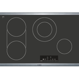 "Bosch30"" Electric Cooktop 800 Series - Black with Stainless Steel Frame NET8066SUC"