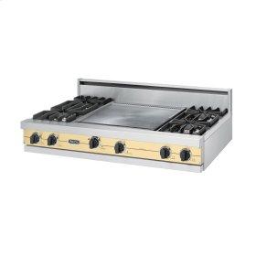 """Golden Mist 48"""" Sealed Burner Rangetop - VGRT (48"""" wide, four burners 24"""" wide griddle/simmer plate)"""