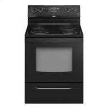 """Black Whirlpool® 30"""" Self-Cleaning Freestanding Electric High-Speed Coil Range"""