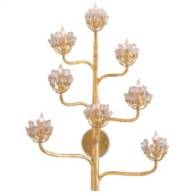 Agave Americana Gold Wall Sconce