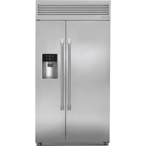 "MonogramMonogram 42"" Built-In Professional Side-by-Side Refrigerator with Dispenser"