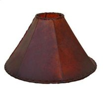 """20"""" Red Rawhide Lampshade"""