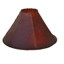 "20"" Red Rawhide Lampshade"