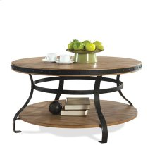 Sherborne Round Coffee Table Toasted Pecan finish