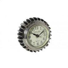 Clock 14x7,5 cm RIBBE small black nickel