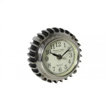 Clock 14x7,5 cm RIBBE small black nickel