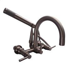 Clawfoot Tub Filler - Gooseneck Spout & Lever Handles - Brushed Nickel
