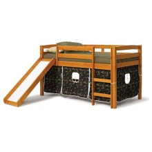 Pine Ridge Tent Bed with Slide with options: Honey Pine, Camo