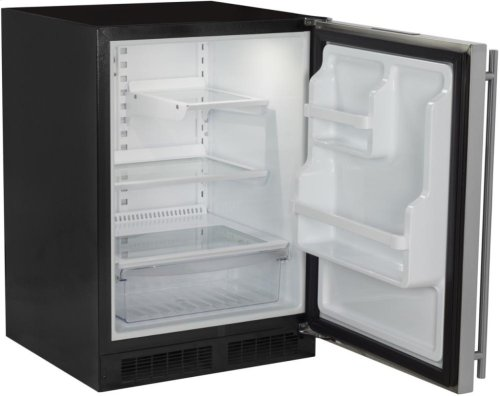 "24"" All Refrigerator with Drawer - Marvel Refrigeration - Solid Panel Overlay Door - Integrated Right Hinge"
