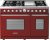 Additional Range DECO 48'' Classic Red matte, Chrome 6 gas, griddle and 2 electric ovens