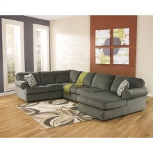 Signature Design by Ashley Jessa Place 3-Piece Left Side Facing Sofa Sectional in Pewter Fabric [FSD-6049SEC-PEW-GG]