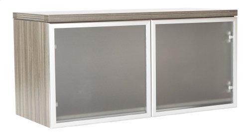Wall Mnt Ovrhd 2/ctns W/glass Drs 36x15x17 Kd