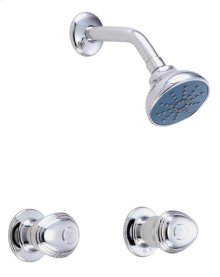 Chrome Gerber® Hardwater Two Handle Shower Only Fitting