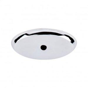 Aspen II Oval Backplate 1 3/4 Inch - Polished Chrome