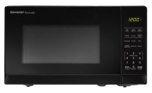 0.7 cu. ft. 700W Sharp Black Carousel Countertop Microwave Oven