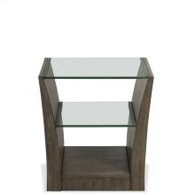 Joelle - Rectangular Side Table - Carbon Gray Finish