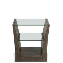 Joelle - Rectangular Side Table - Carbon Gray Finish