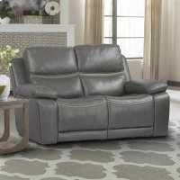 Palmer Greige Power Loveseat Product Image