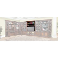 Corsica 60 in. Bookcase Bridge, Shelf and Back panel
