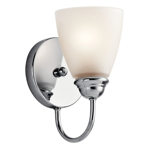 Jolie 1 Light LED Wall Sconce with LED Bulb Chrome