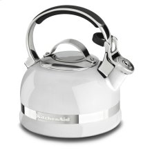 1.9 L Kettle with Full Stainless Steel Handle and Trim Band - White