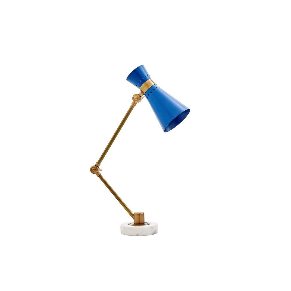 Clipper Table Lamp, Navy Blue