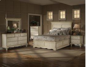 Wilshire 5pc King Panel Storage Bedroom Suite