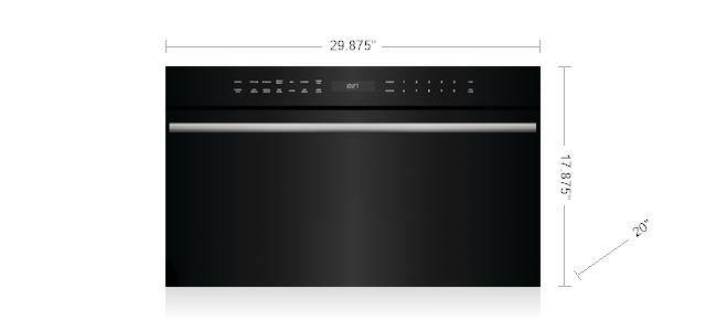 "Wolf30"" M Series Contemporary Drop-Down Door Microwave Oven"