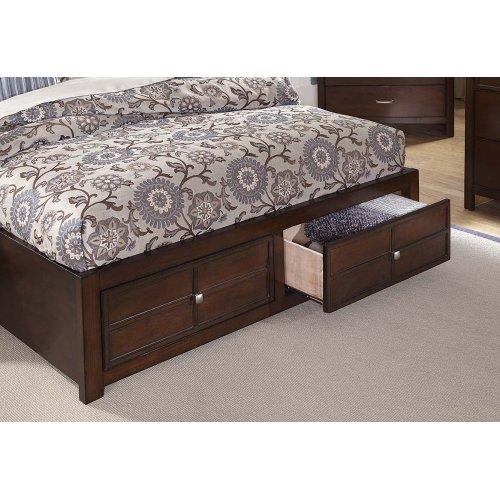 5/0 Queen Storage Bed - 5/0 Q Headboard, Storage Footboard, Rails with slats