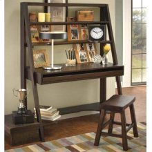 "A Frame Desk w/ Saddle Seat Stool (18""H)"