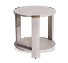 Evelyn Side Table - Cream Shagreen