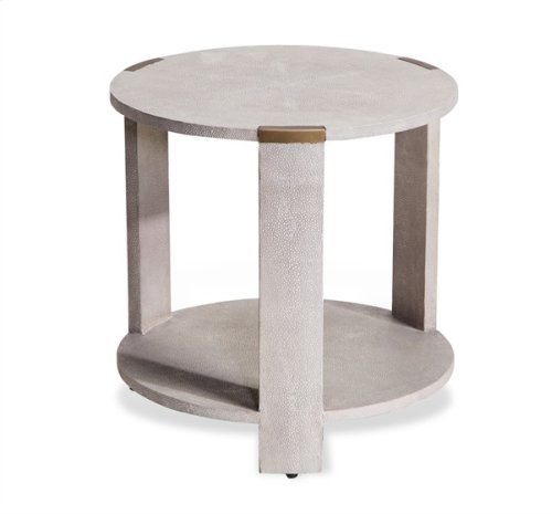 Evelyn Side Table - Cream Shagreen