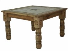 4'x4' Stone Dining Table W/Stone Star