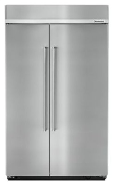 30.0 cu. ft 48-Inch Width Built-In Side by Side Refrigerator with PrintShield Finish - Stainless Steel Product Image