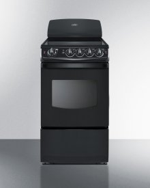 "20"" Wide Smooth-top Electric Range In Black With Oven Window"