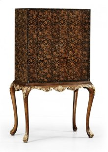 Black Chinoiserie Drinks Cabinet