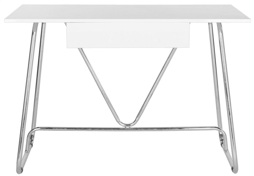 Malloy Desk - White / Chrome