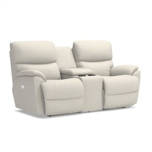 Trouper PowerRecline La-Z-Time® Full Reclining Loveseat w/ Console and Power Headrest