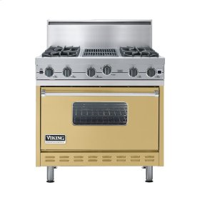 "Golden Mist 36"" Open Burner Commercial Depth Range - VGRC (36"" wide, four burners 12"" wide char-grill)"