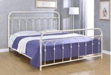 Hallwood Bed - King, Antique White Finish