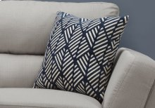 "PILLOW - 18""X 18"" / DARK BLUE GEOMETRIC DESIGN / 1PC"