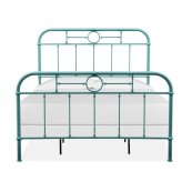 Complete Queen Metal Bed - Blue