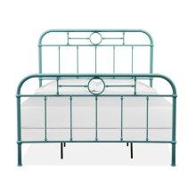 Complete Queen Metal Bed - Blue