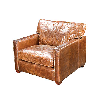 Lovely Larkin Club Chair Cigar